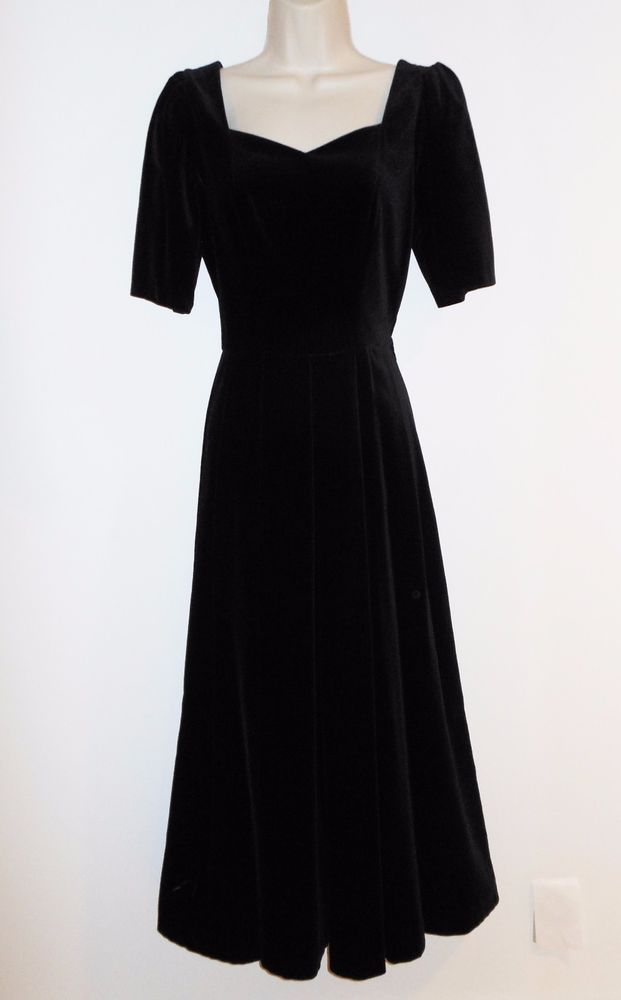 Laura Ashley Long Black Evening Dress