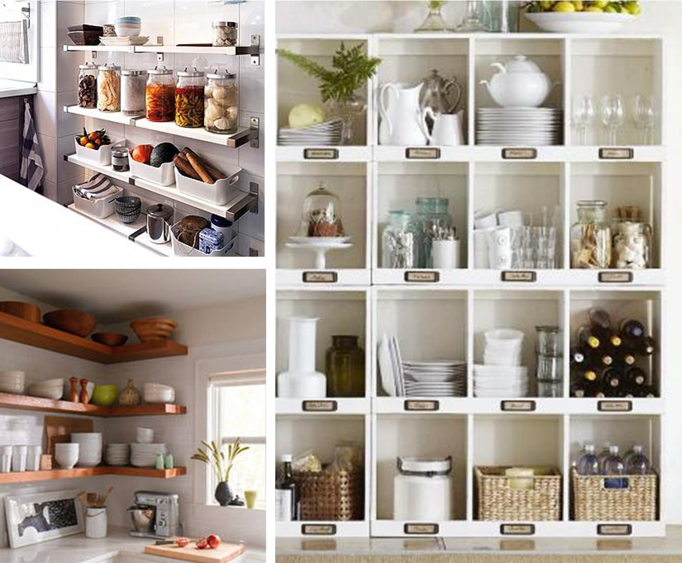 7 ideas para poner en orden la cocina baldas estanter as for Ideas de muebles de cocina