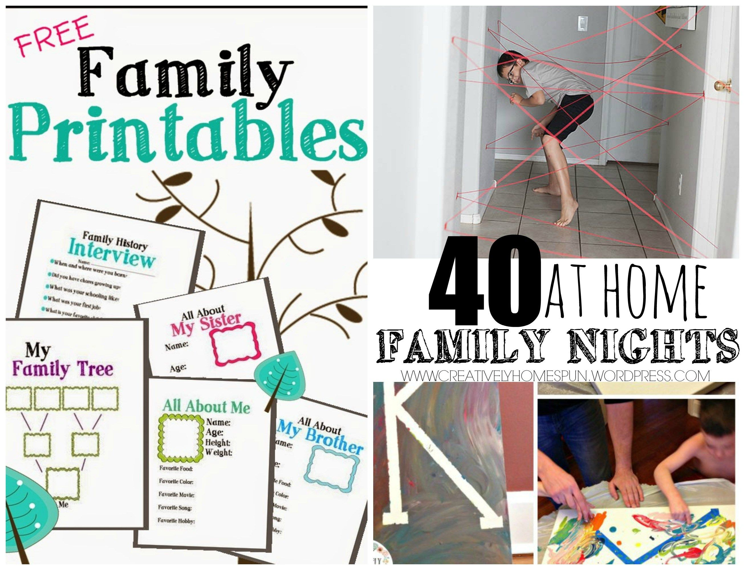 40 at Home Family Nights | Pinterest | Family night, Cabin fever and ...