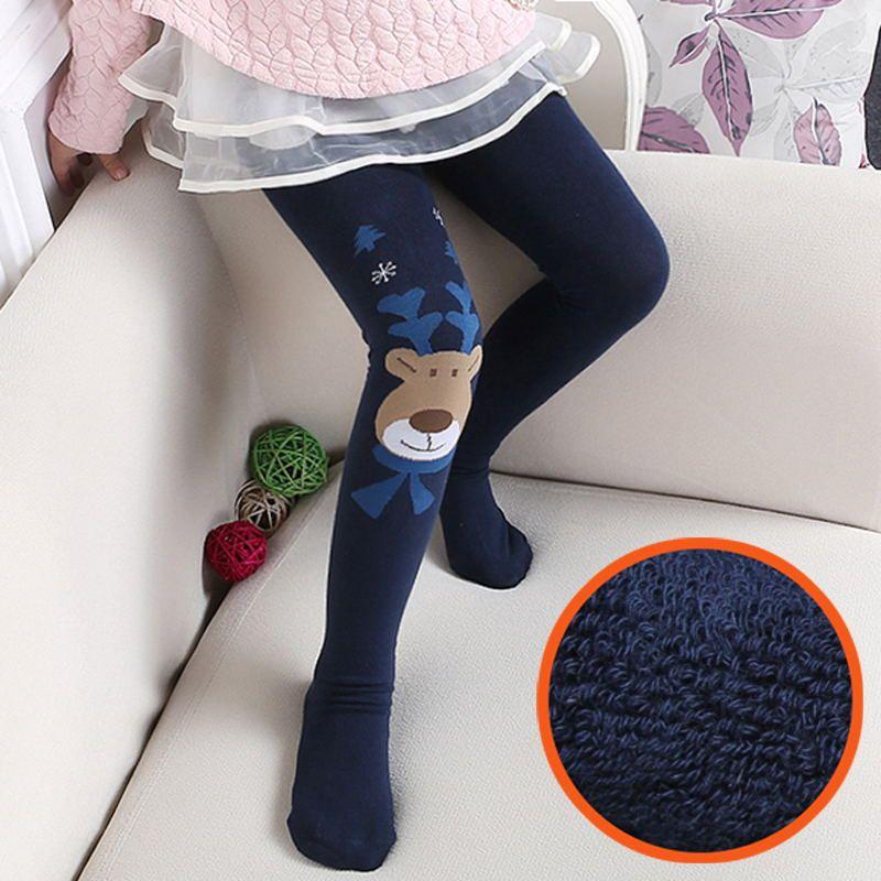 Kids Toddler Baby Girls Warm Cotton Stockings Leggings Pants Knee High Socks New