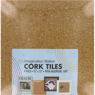 12 X 12 Light Square Cork Tiles Cover Each One With A Different Fabric Put Next To Each Other Cork Tiles Cork Board Tiles Hobby Lobby