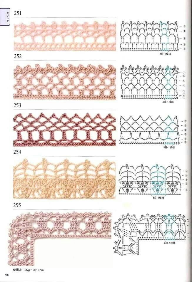 Barrinhas | Crochet: Miscellaneous Patterns | Pinterest | Ganchillo ...