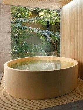 A Fantastic Idea For A Spa Ours Homes Wooden Bathtub Whirlpool Hot Tub Jacuzzi Outdoor