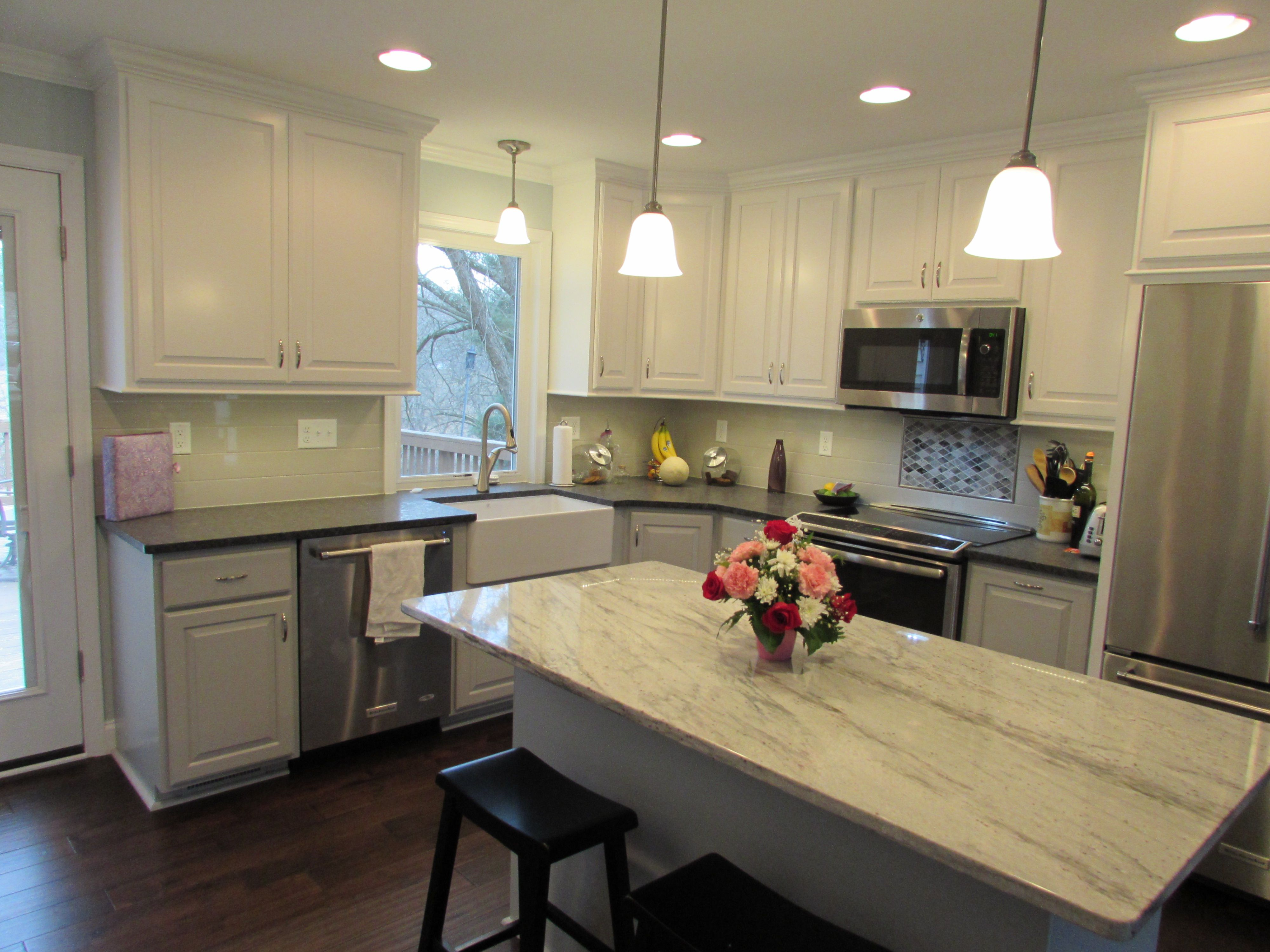 Lovely Kitchen Remodel In Urbana, MD With Farm Sink And Casement Window By Best Of  Frederick Home Improvement Company Talon Construction Home Design Ideas