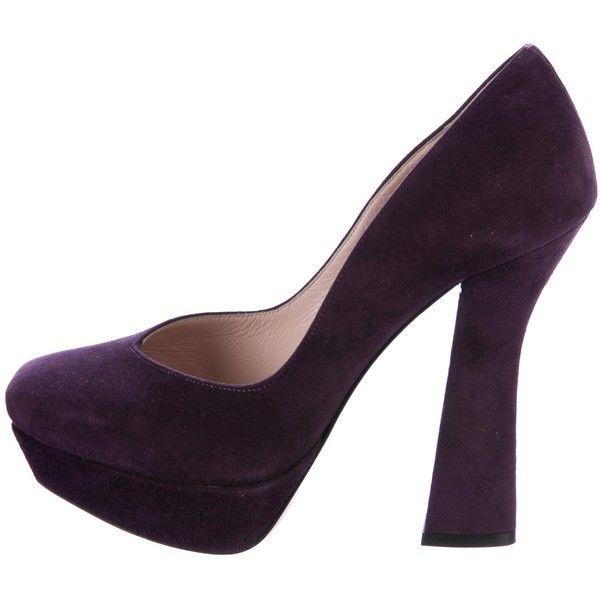 Pre-owned - Purple Suede High heel Miu Miu dOtzpuD