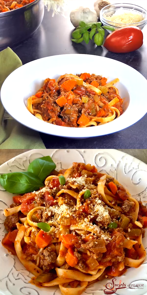 One Pot Fettuccine Bolognese images