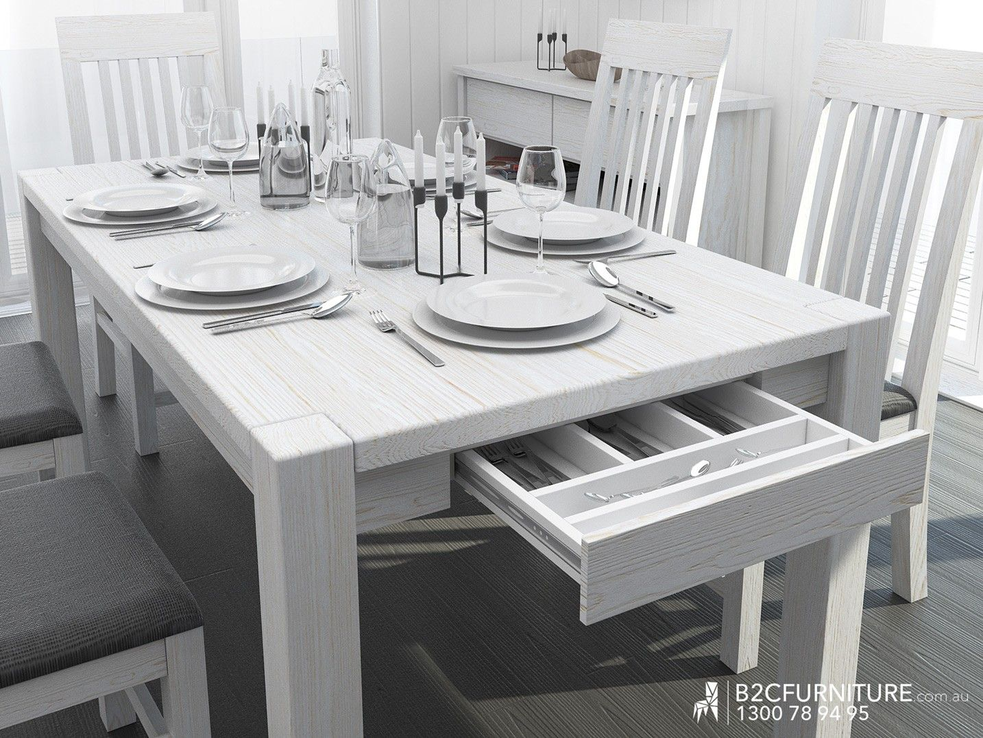Modern Solid Timber Dining Tables Finished In Whitewash. Buy Factory Direct  U0026 Save Off RRP. Buy Online Or Visit Our Furniture Stores Dandenong Melbourne