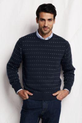 Men's Birdseye Cotton Drifter Crew Sweater from Lands' End ...