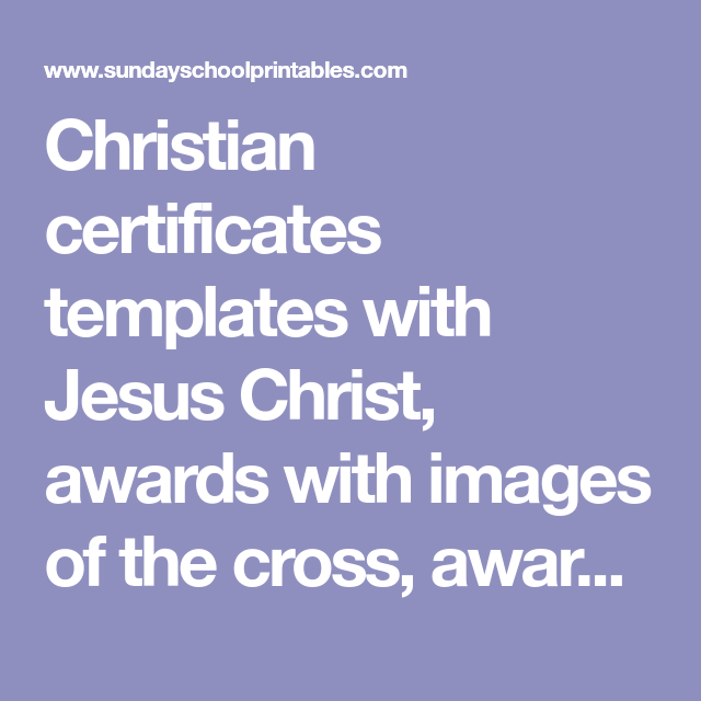 Christian Certificates Templates With Jesus Christ Awards With