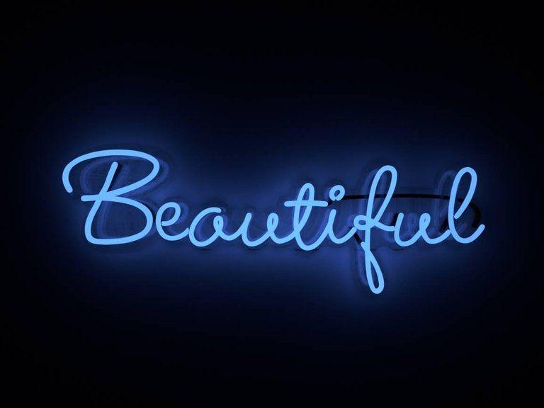 Mary Jo McGonagle Beautiful – neon art work
