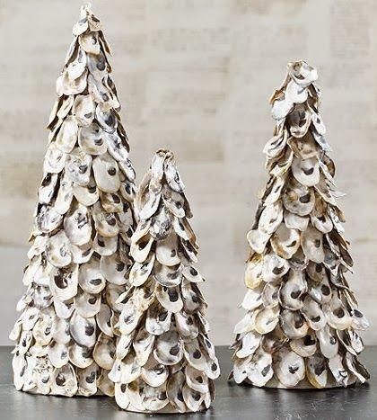 Make beautiful cone seashell christmas trees great info for Christmas tree ornaments made from seashells
