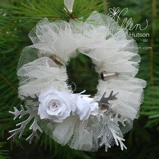 tiny tulle wreath