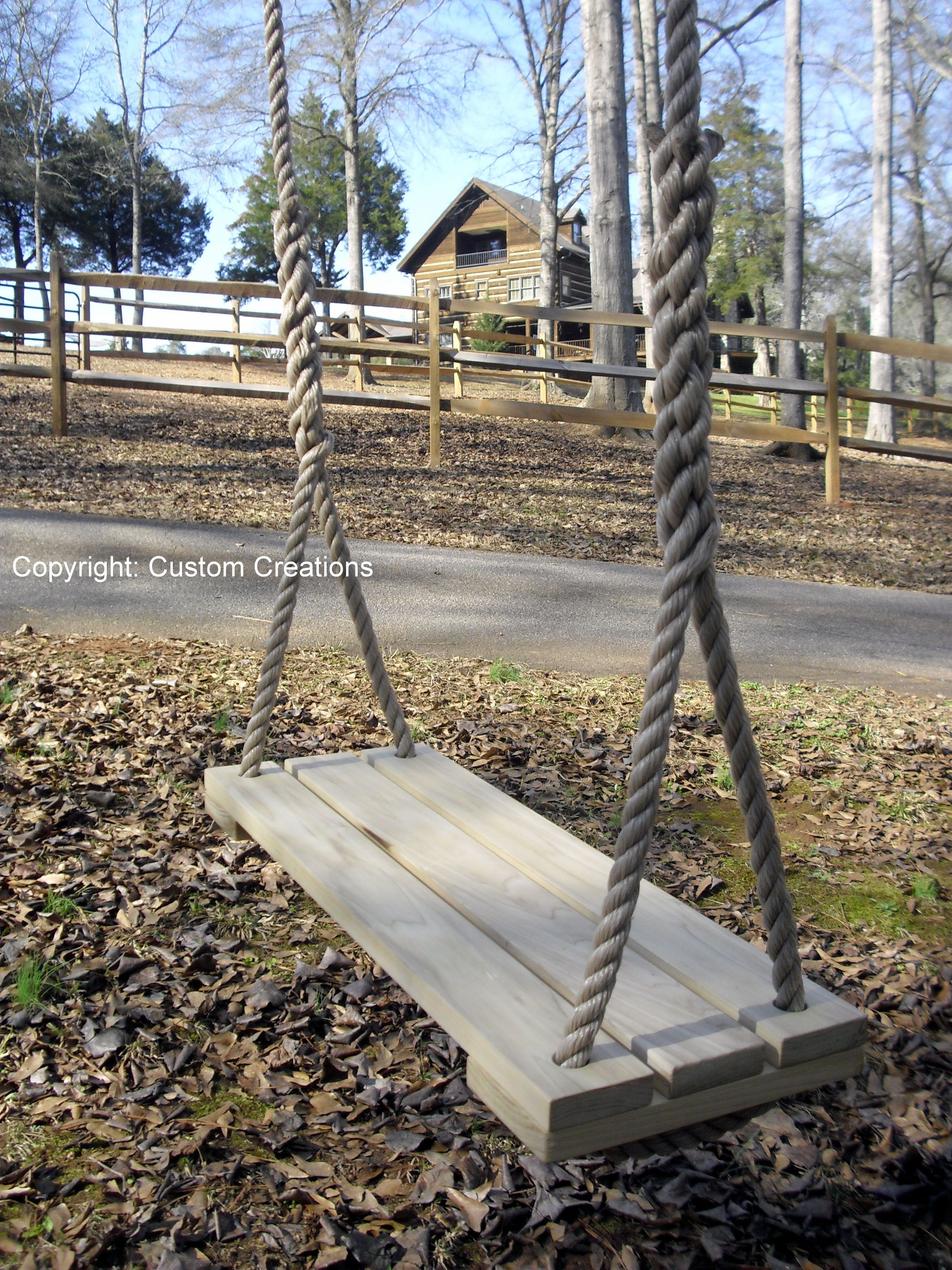 It's hard to beat the beauty of Poplar wood. Our Poplar swings are some of our favorites and are very well built providing you with an attractive swing that stands up to mother nature year after year. Enjoy!