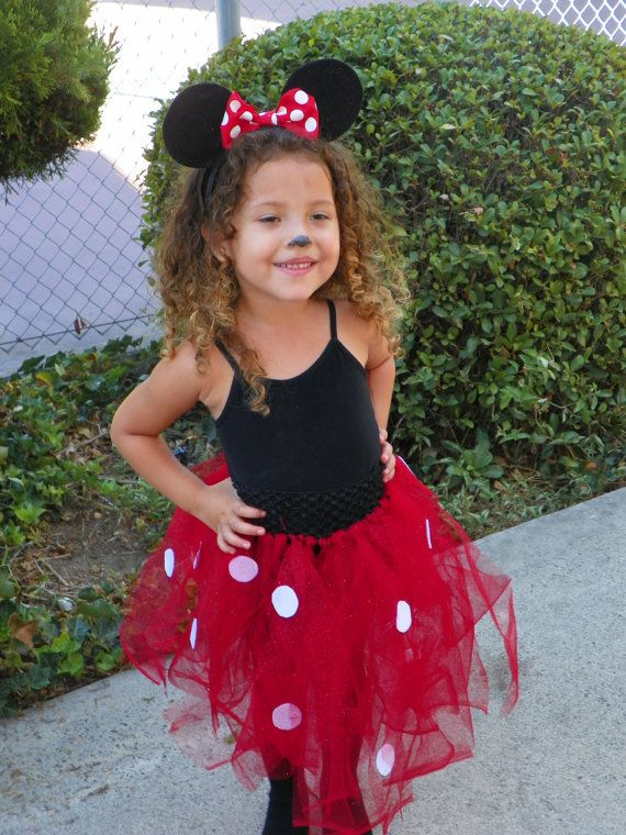 Minnie Mouse: I could make the tutu (red tulle + white felt), she ...