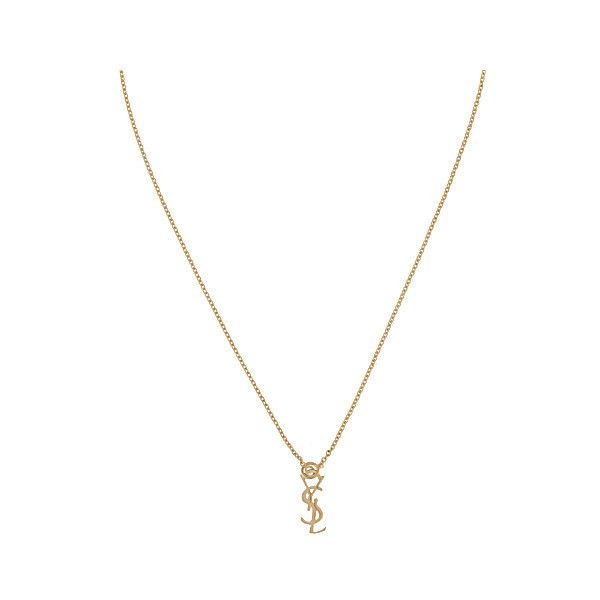 f2f651c909d SAINT LAURENT Monogram necklace ($365) ❤ liked on Polyvore featuring jewelry,  necklaces, accessories, clasp charms, monogram charm necklace, ...