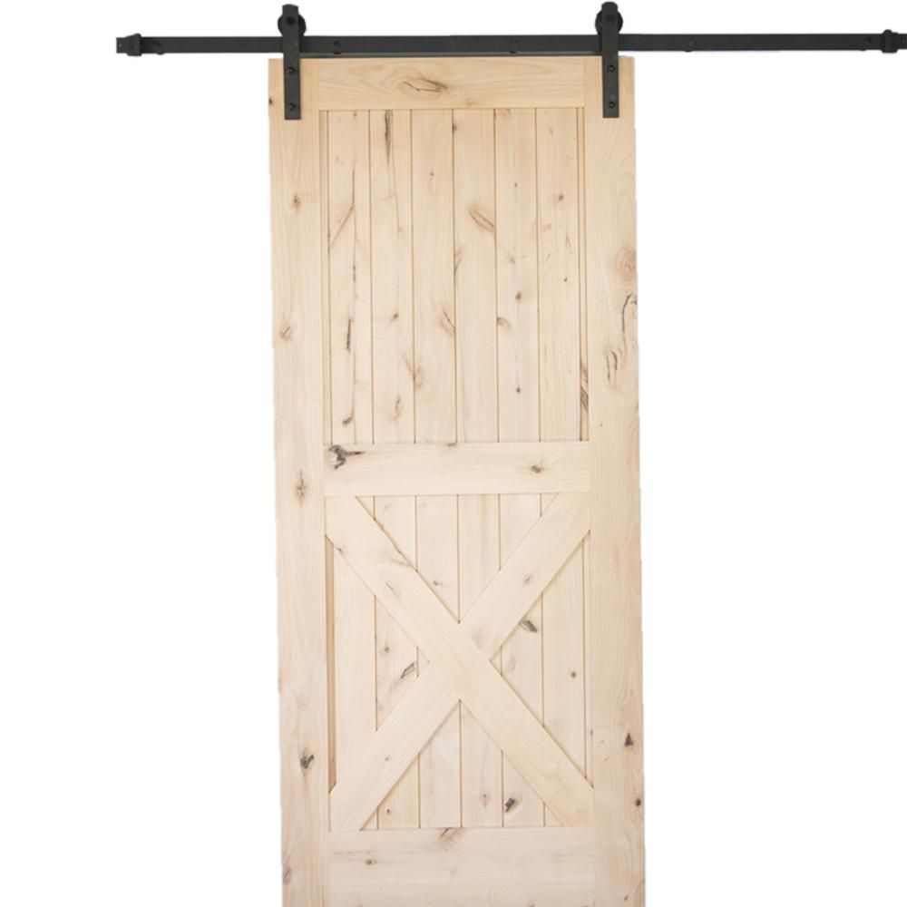 Krosswood doors in  knotty alder panel single solid wood core interior barn door slab also rh pinterest