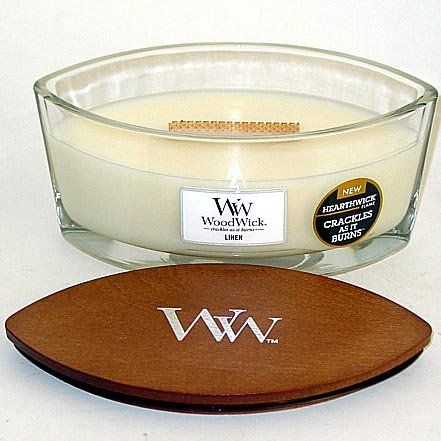 Introducing Linen HearthWick Flame Large Scented Candle by ...