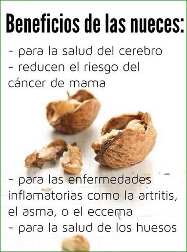 Nueces Y Sus Beneficios Beneficios De Alimentos Frutas Y Verduras Beneficios Beneficios De La Fruta