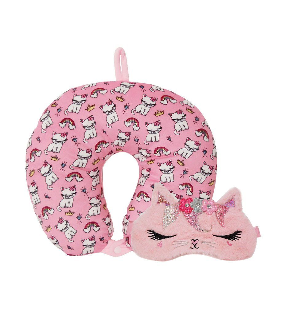 Miss bella the kitty travel pillow set