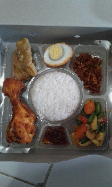 Nasi Kotak Makanan Dan Minuman Fotografi Makanan Makanan