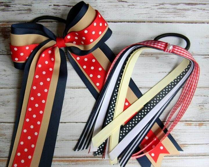 55 DIY Easy Hair Bows To Make {step by step} #hairbows