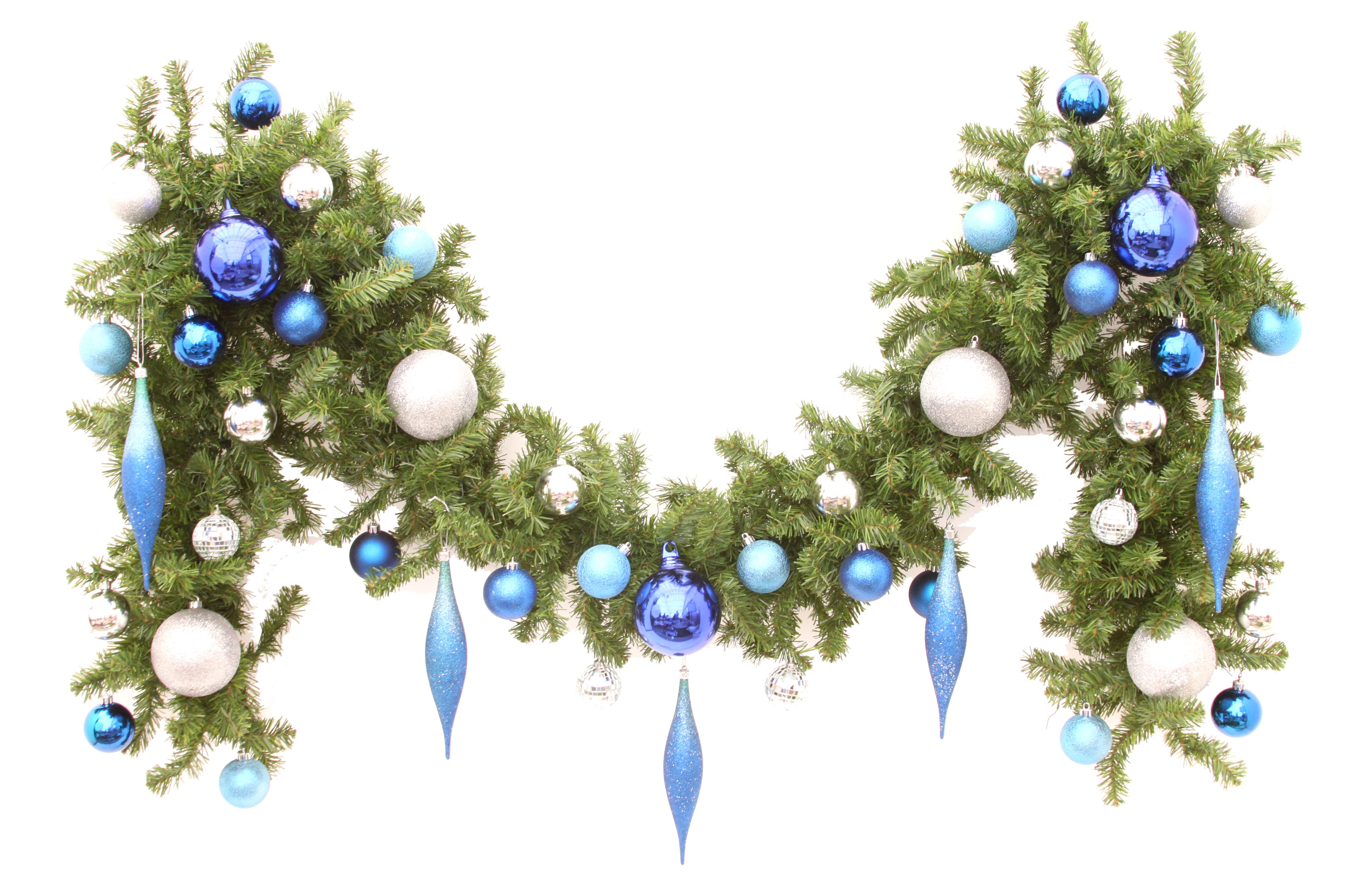 Icicle Burst Garland | Christmas Tree Rentals | Christmas Garlands ...