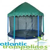Trampoline Roofs Bounce In The Rain With A Trampoline Roof Backyard Trampoline Trampoline Tent Trampoline