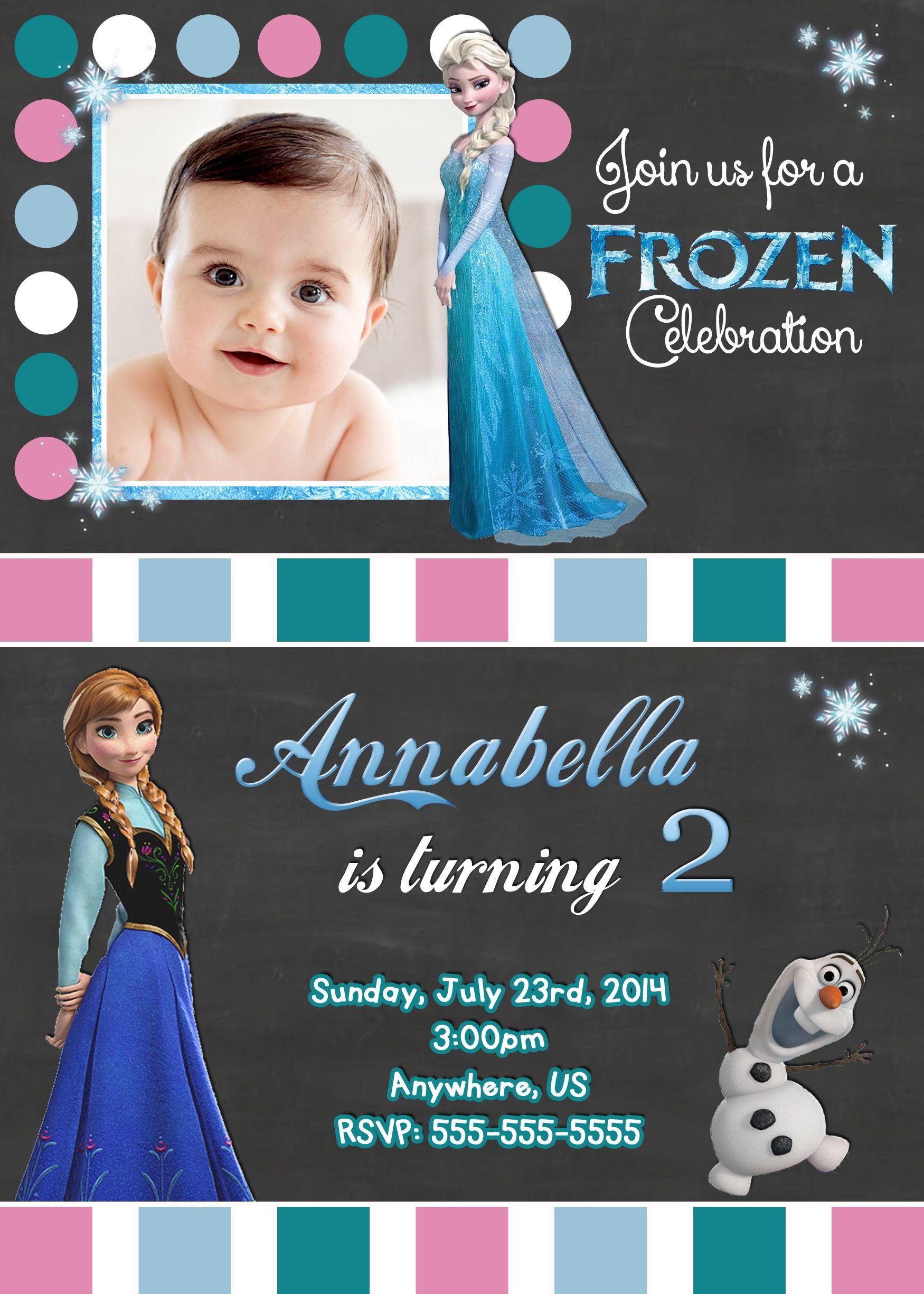 Disney Frozen Movie Birthday Invitations $8.99   Disney Frozen Movie ...