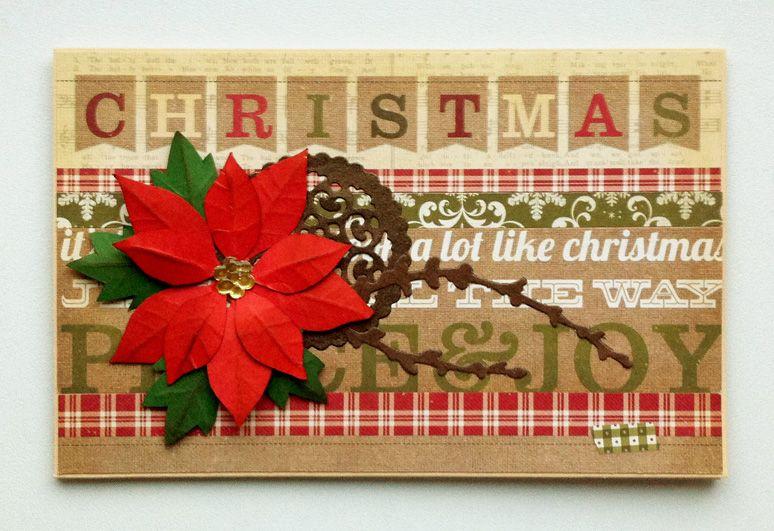 Christmas card - jule kort - Karte weihnachten - kaarten - Simple Stories: Handmade Holiday paper pad - JKE