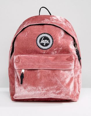 skate shoes multiple colors cost charm Hype Exclusive Dusky Pink Velvet Backpack | Backpacks, Hype bags ...