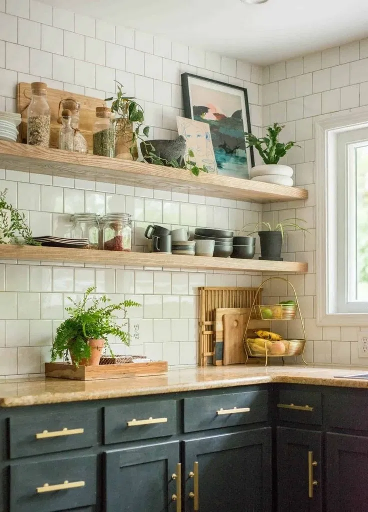 80 Simple Kitchen Open Shelving Ideas To Inspire You Kitchen Kitchendecor Kitchendesign Open Kitchen Cabinets Open Kitchen Shelves Floating Shelves Kitchen