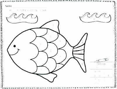 Rainbow Fish Printable Worksheets Elegant Fish Template