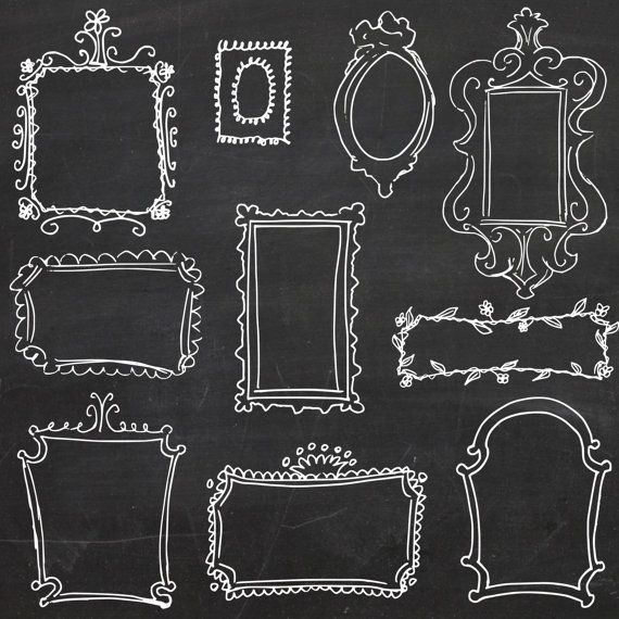 72 Awesome free chalkboard frames clipart | Signs 2 | Pinterest ...
