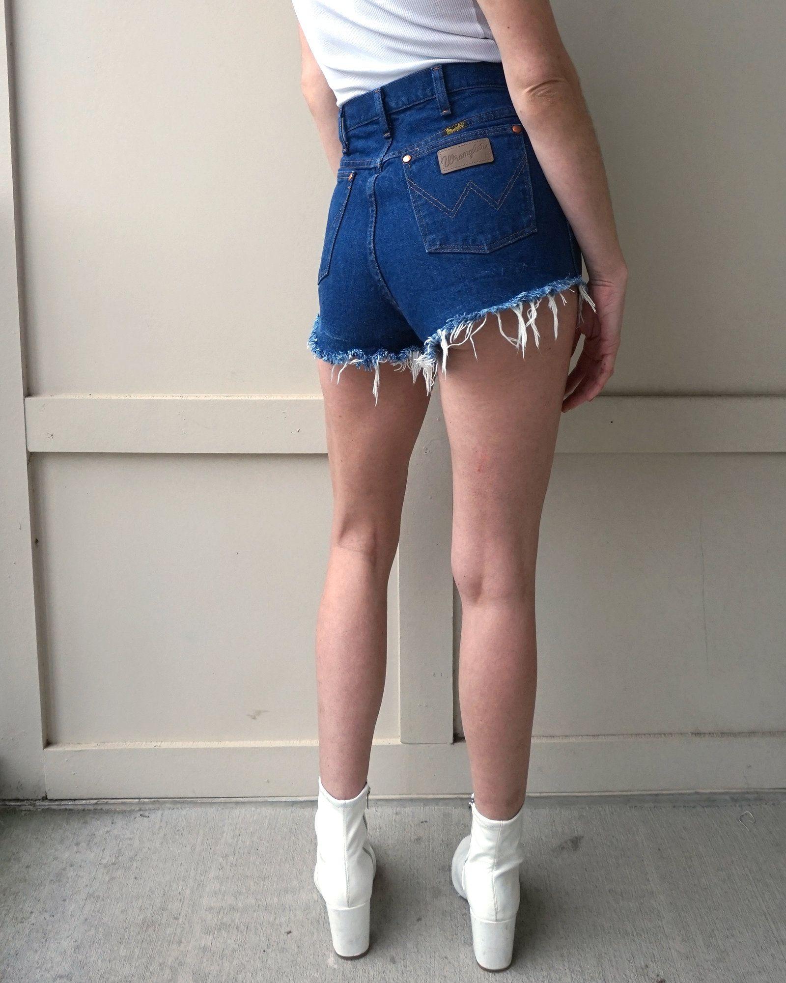 b35e138bde Cutoff Jean Shorts, Wrangler Jeans, Dark Denim, Cut Off, Skort, Overall