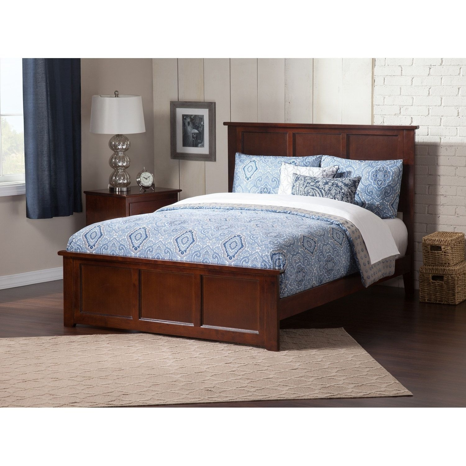 Atlantic Furniture Madison Queen Bed with Matching Foot Board in