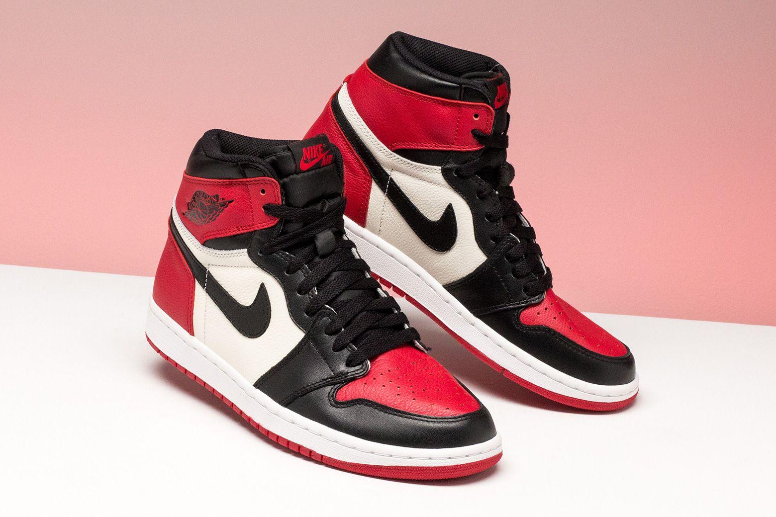 Jordan 1 Retro High Bred Toe 555088 610 Jordan Shoes Girls Fresh Shoes Nike Air Shoes