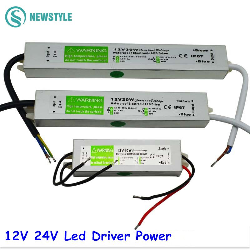 Dc 12v 24v 30w Electronic Led Driver Ip67 Waterproof Outdoor Lighting Equipment Dedicated Power Supply Trans Led Power Supply Led Drivers Led Strip Lighting
