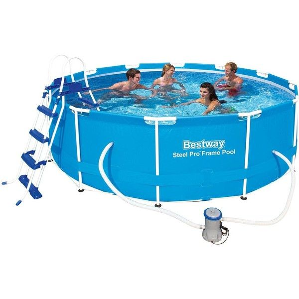 Bestway 12x39 5 Steel Pro Frame Pool Set 350 Liked On
