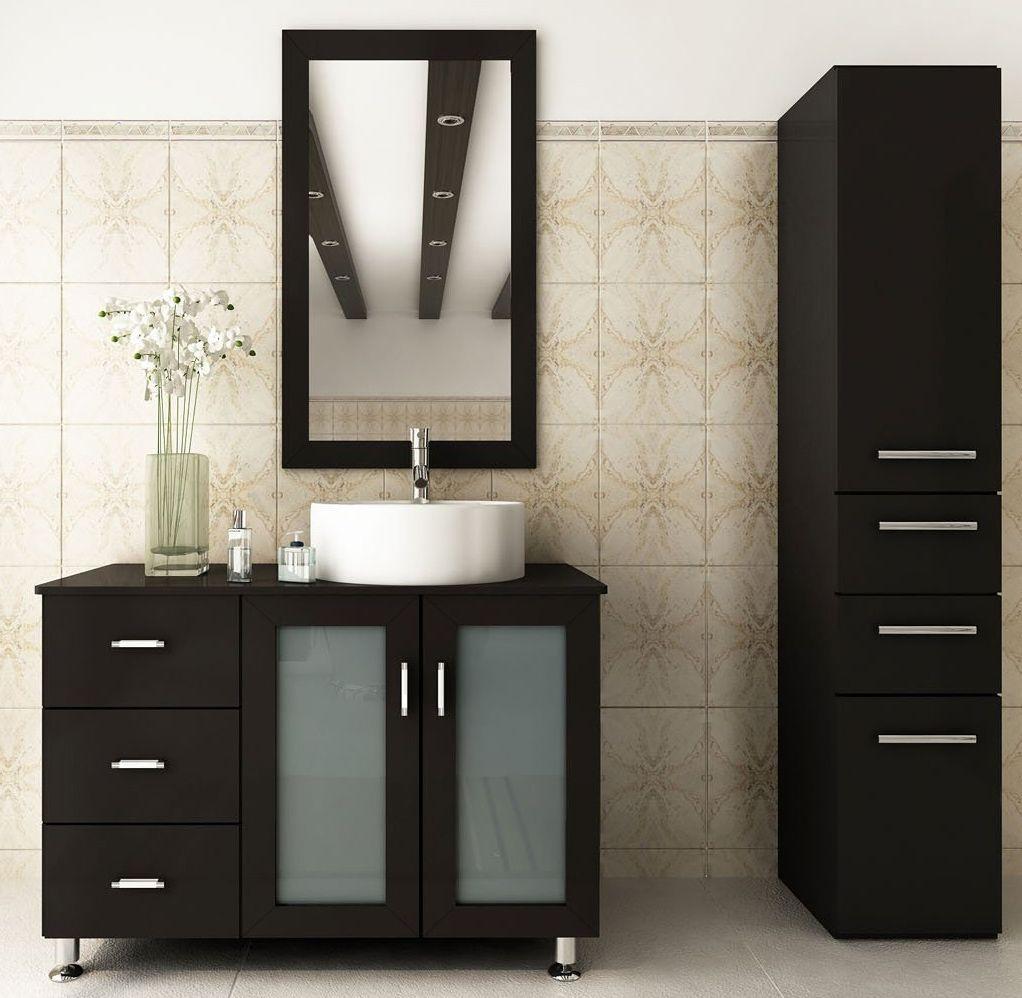Abaco Avola Inch Vessel Sink Bathroom Vanity Espresso Finish - Affordable modern bathroom vanities