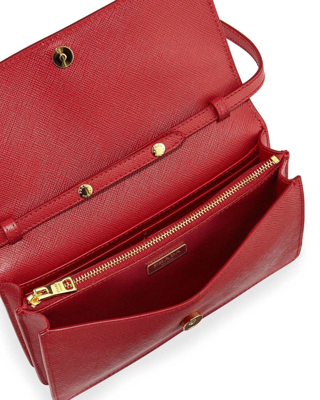 9a93673fc41a Prada | Red Saffiano Mini Cross-Body Bag | Lyst | Bags: The Edit ...