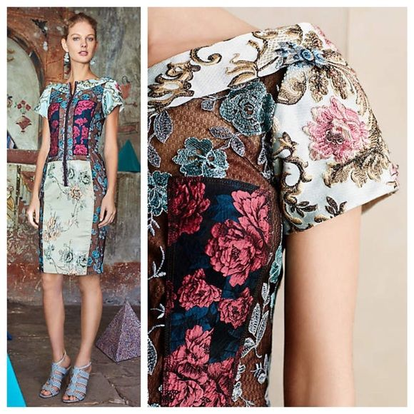 fd9bc9cde46d9 Anthropologie Dresses - Pieced Brocade Dress by Byron Lars | Dresses ...