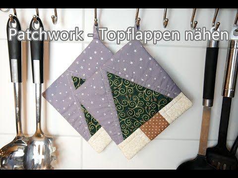 Patchwork - Topflappen nähen   GEWINNSPIEL   500 Abonnenten Special - YouTube #tischsetnähen