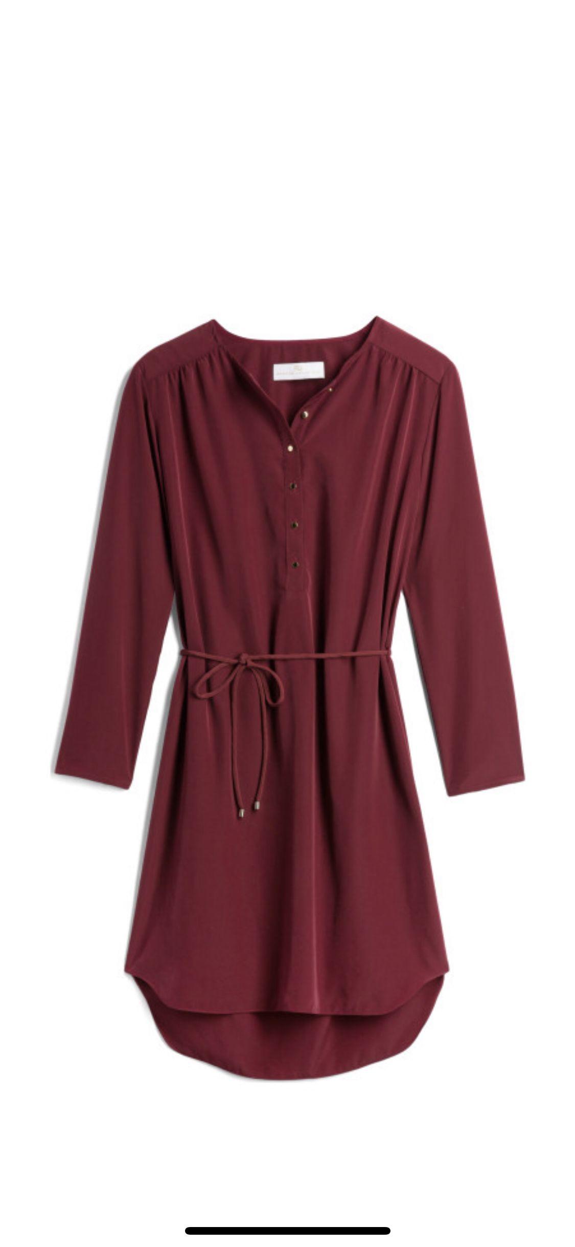 Burgundy shirt dress #stitchfix