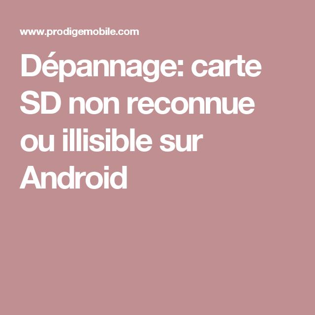 carte sd non reconnue android Épinglé sur Informatique