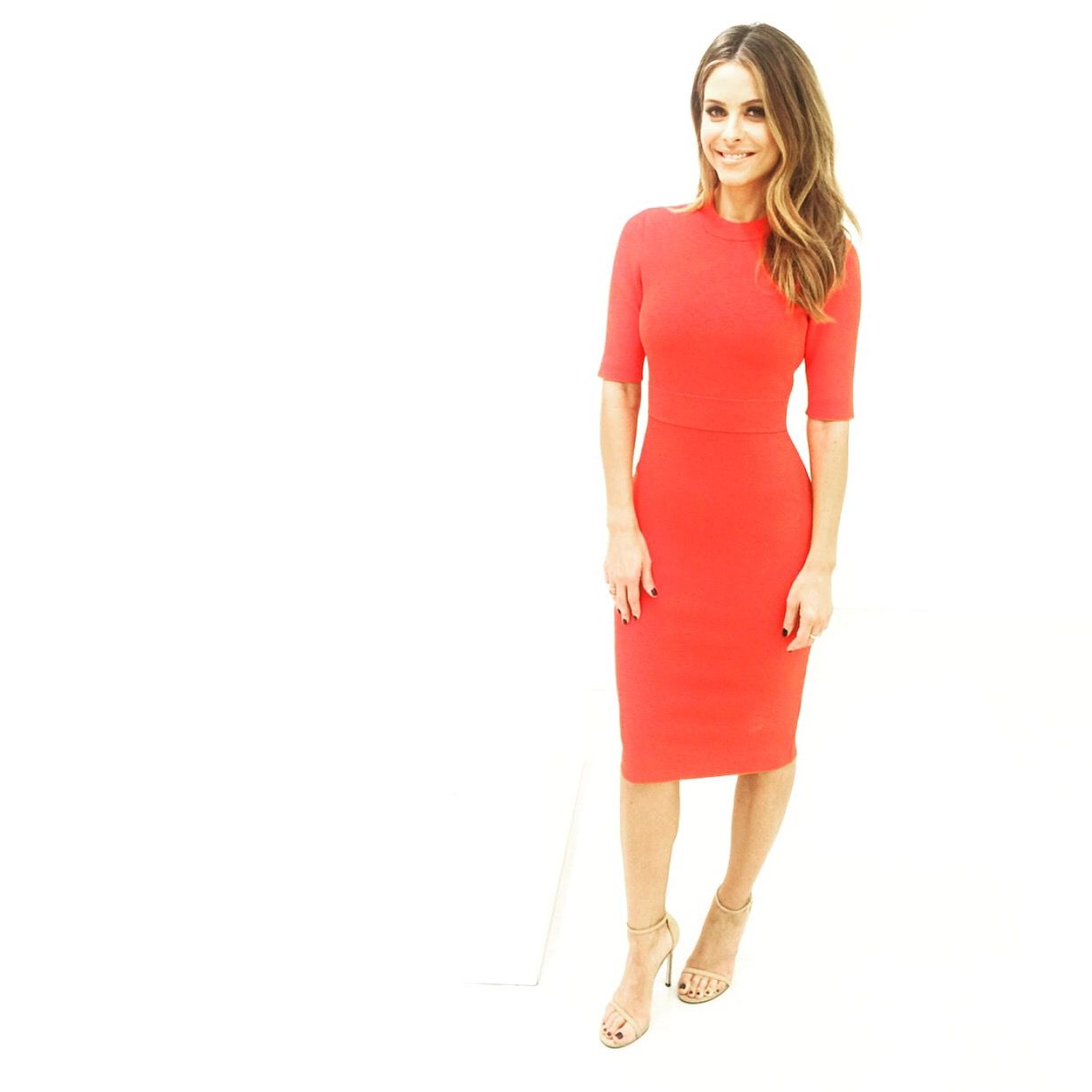Dress: Andrea Lieberman Collection  Earrings: Henri Bendel Shoes: Stuart Weitzman
