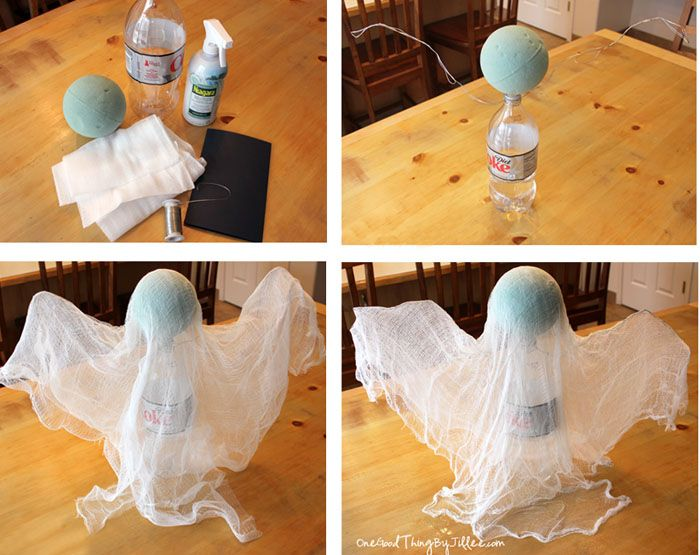 How To Make A Spooky Floating Cheesecloth Ghost Cheesecloth ghost