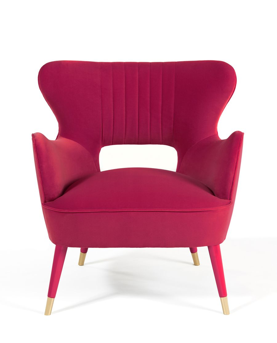 Babe Armchair Fuchsia Munnadesign Babe Armchair Fuchsia Timecollection Upholstery Fuchsiavelvet Furniture Design Armchair Furniture