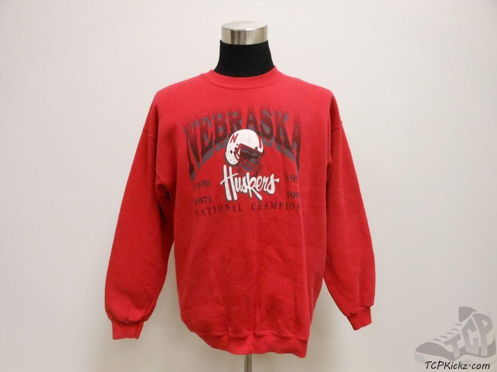 Vtg 90s Lee Sport Nebraska Corn Huskers Crewneck Sweatshirt sz XL Extra Large #LeeSport #NebraskaCornhuskers #tcpkickz