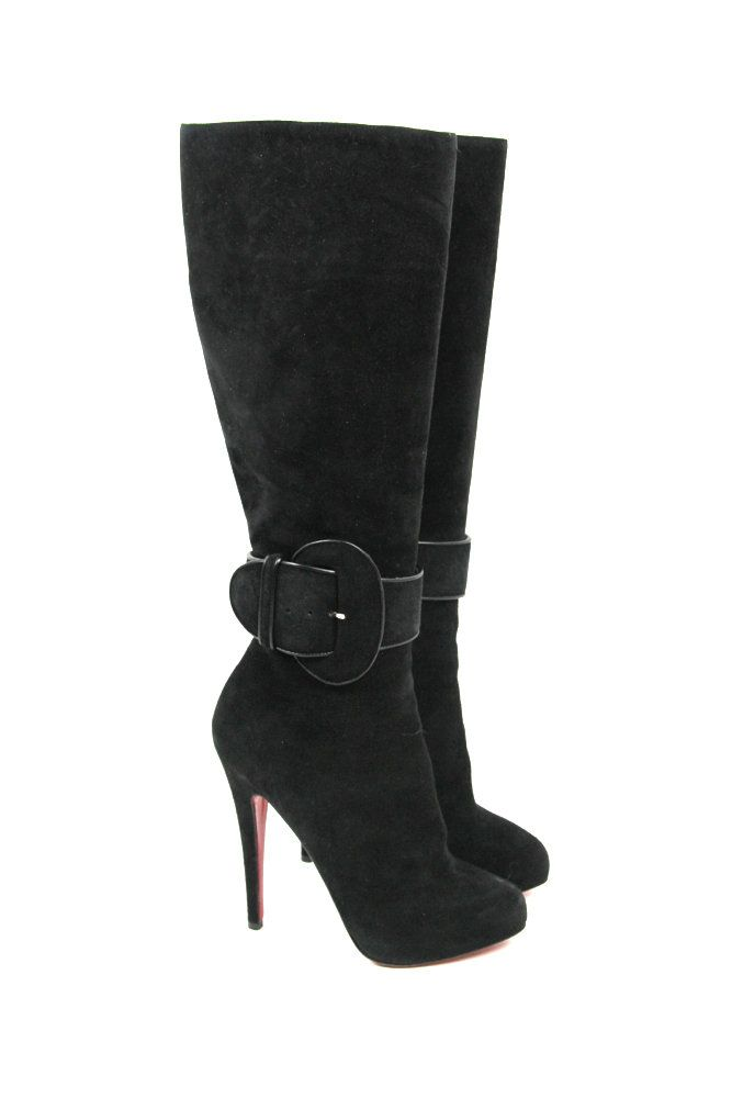 6b34ab5ab063 preloved Christian Louboutin boots for sale at BuyMyWardrobe ...