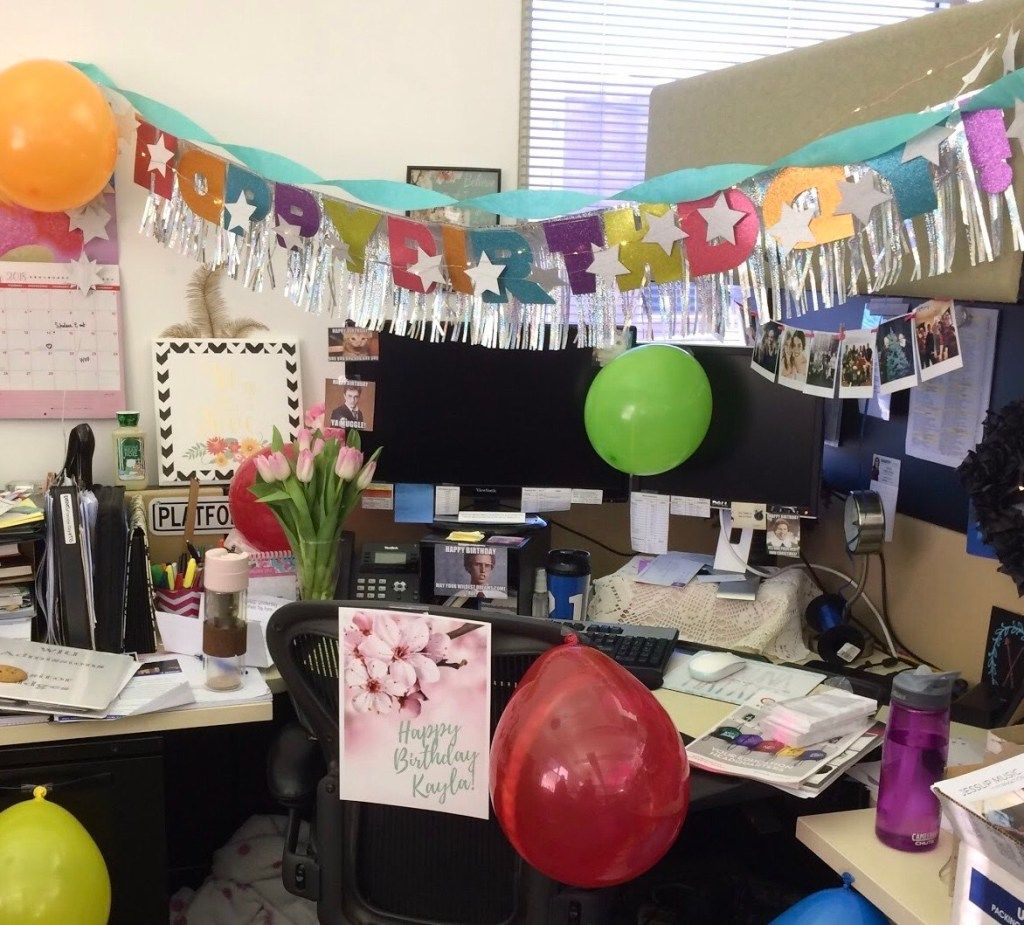 Desk celebration decorations that are way too fun for work